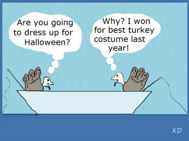 image of two turkeys comic